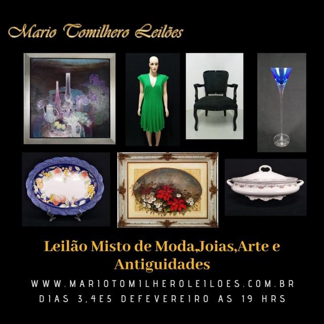LEILÃO MISTO DE MODA, JÓIAS, ARTE E ANTIGUIDADES