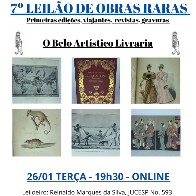 7º Leilão de Obras Raras/Especiais de O Belo Artístico