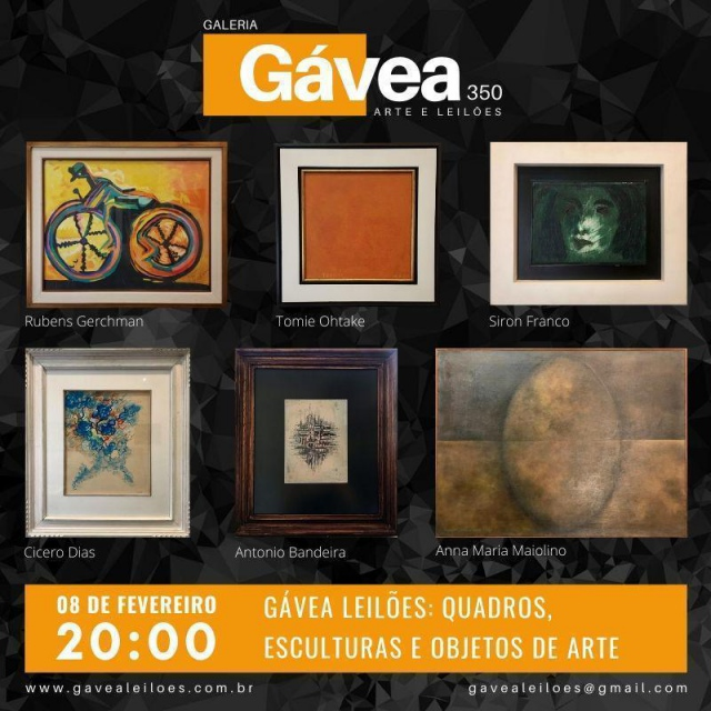 Gávea Leilões Quadros, Esculturas e Objetos de arte