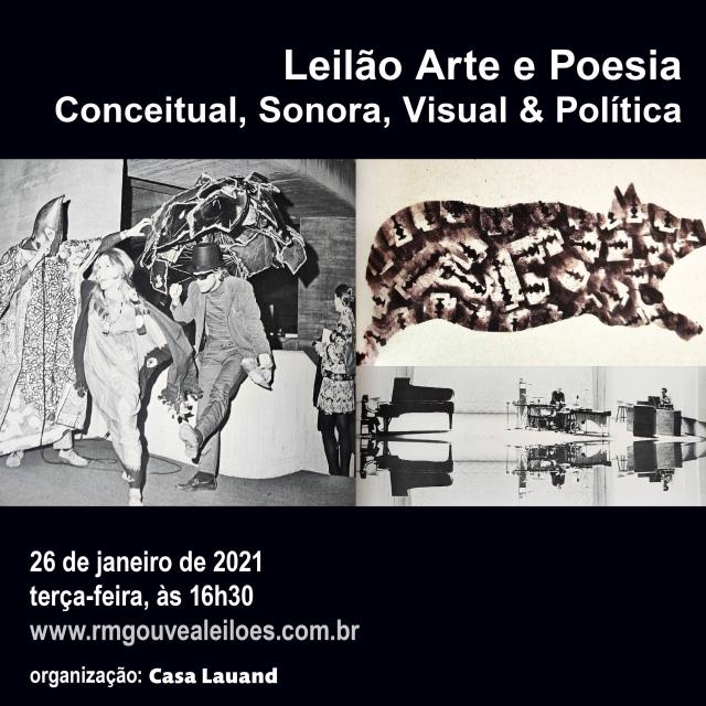Leilão Arte e Poesia: Conceitual, Sonora, Visual & Política 26/01/2021 às 16h30