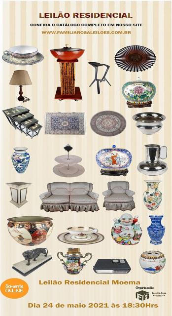 LEILÃO RESIDENCIAL MOEMA ( Quadros, tapetes, porcelanas, cristais e variedades)