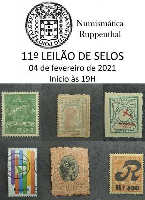 11º Leilão de Selos - Numismática Ruppenthal