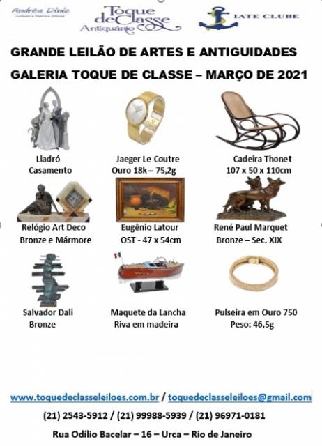 GRANDE LEILÃO DE ARTE E ANTIGUIDADES - MARÇO DE 2021