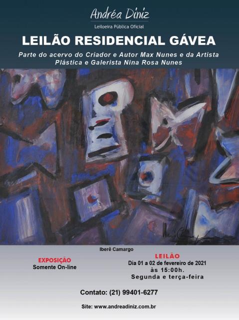 RESIDENCIAL GÁVEA - Parte do Acervo Criador e Autor Max Nunes e da Artista Plástica Nina Rosa Nunes