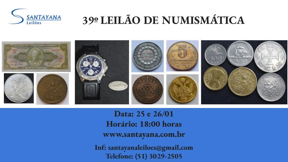 39º LEILÃO DE NUMISMÁTICA