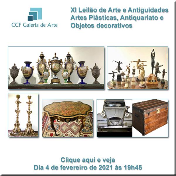 XI Leilão CCF Esc. de Arte - antiguidades, obras de arte - 04/02/2020 às 19h45