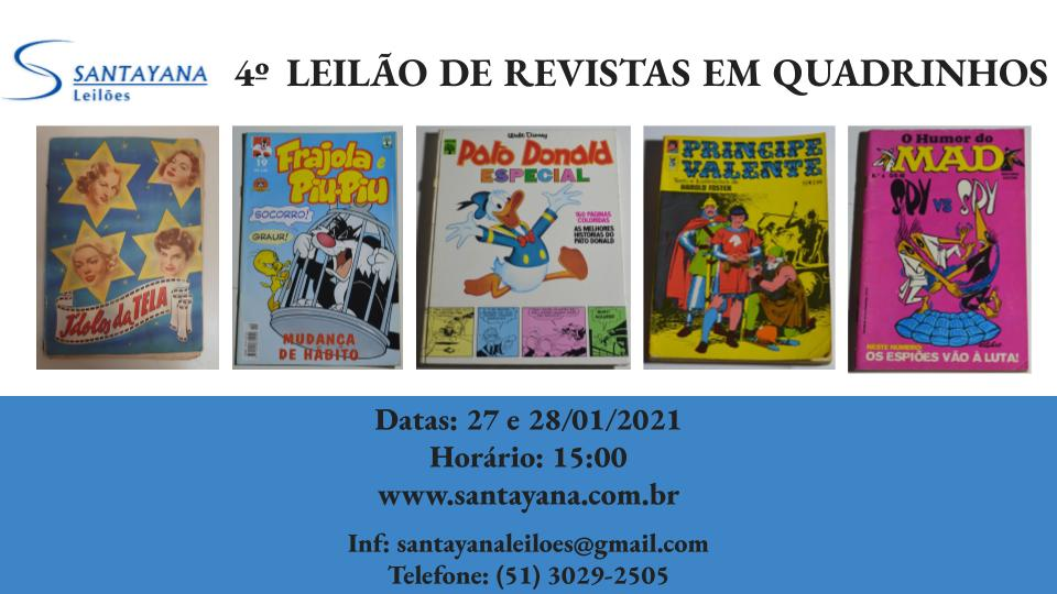 4º  LEILÃO DE REVISTAS EM QUADRINHOS