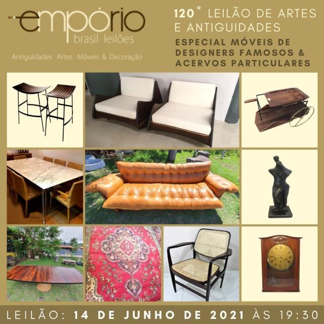 120º Leilão de Artes & Antiguidades - Especial Móveis de Designers Famosos & Acervos Particulares!!!