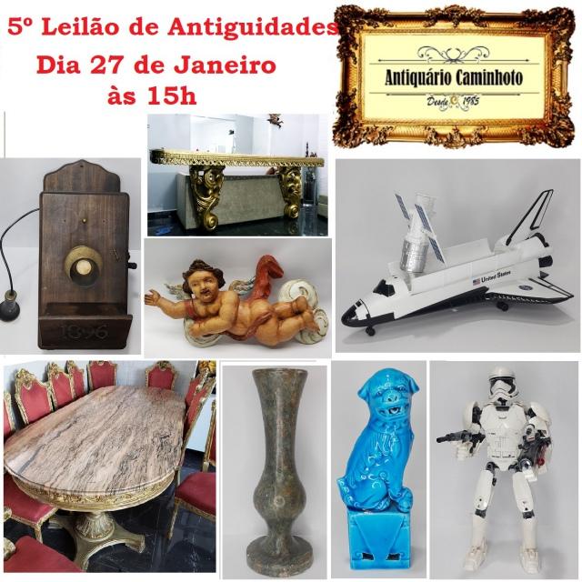 5º LEILÃO ANTIQUÁRIO CAMINHOTO