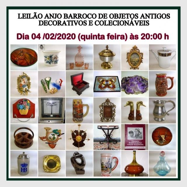 LEILÃO DE OBJETOS ANTIGOS DECORATIVOS E COLECIONÁVEIS