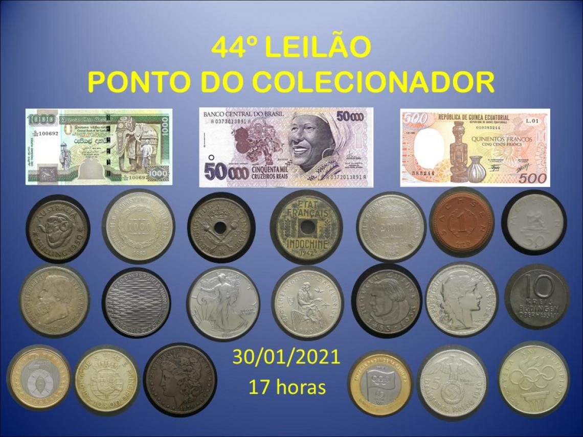 44º LEILÃO PONTO DO COLECIONADOR