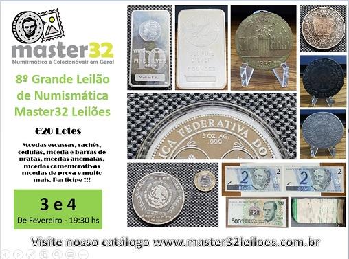 8º Grande Leilão de Numismática - Master32 Leilões