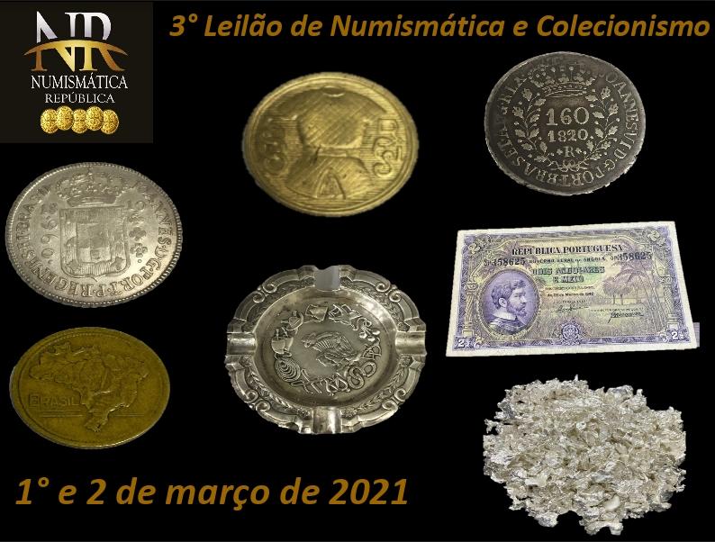 3º Leilão de Numismática e Filatelia - NUMISMÁTICA REPÚBLICA