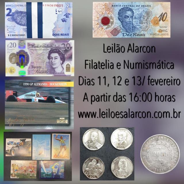 LEILÃO DE NUMISMÁTICA E FILATELIA - FAMÍLIA BARROS.