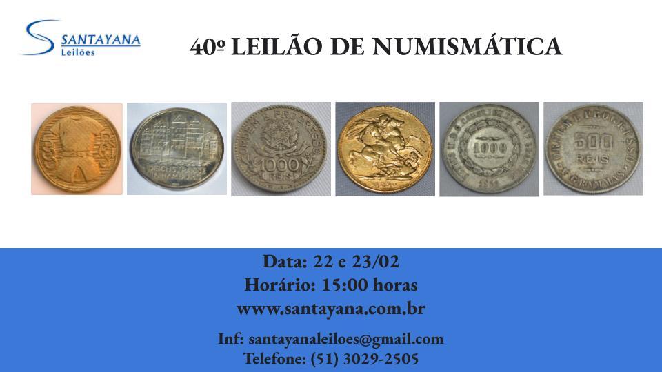 40º LEILÃO DE NUMISMÁTICA
