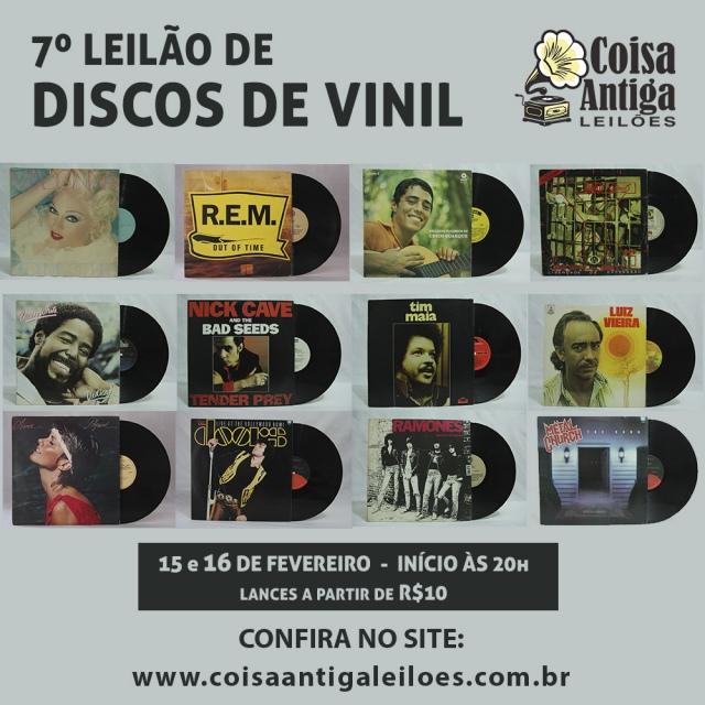 7º Leilão de Discos de Vinil - Rock, Pop, MPB, Samba...