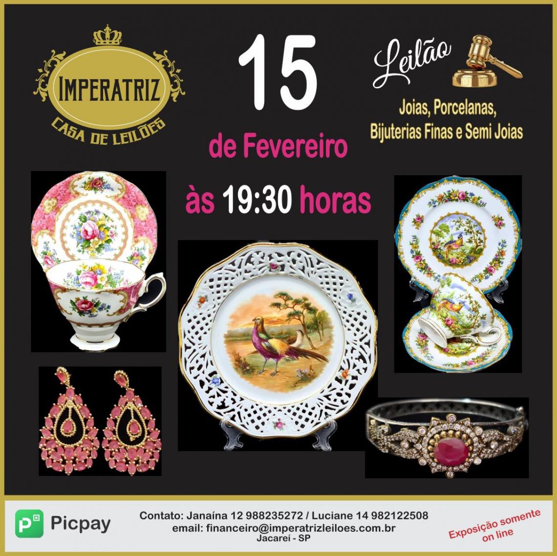 CASA DE LEILÕES IMPERATRIZ - Joias, Porcelanas, Bijuteria Finas e Semi Joias