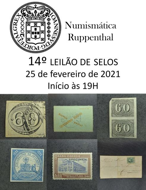 14º Leilão de Selos - Numismática Ruppenthal