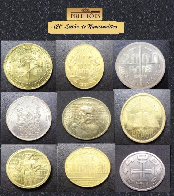 121º Leilão de Numismática Pbleiloes