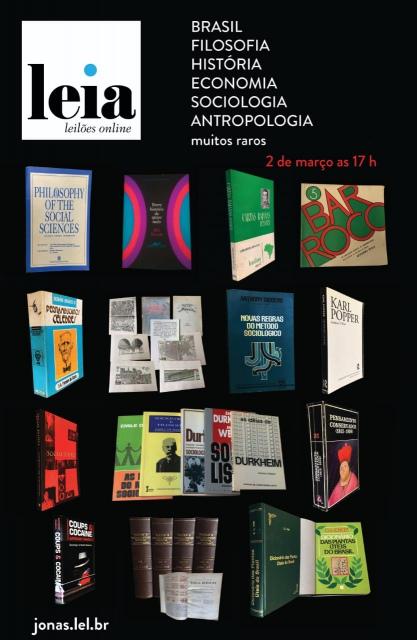 Leilao Livros: BRASIL, FILOSOFIA, HISTORIA, SOCIOLOGIA, ANTROPOLOGIA, ECONOMIA  E MUITOS RAROS.