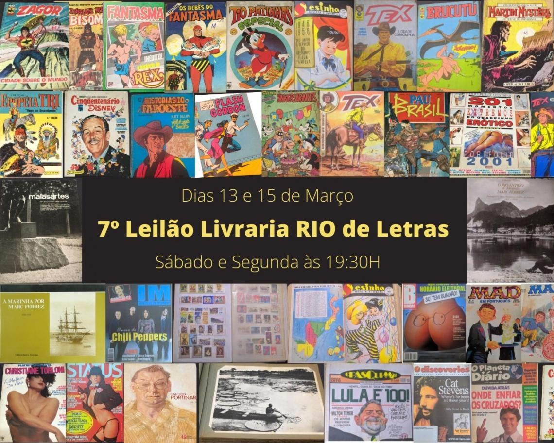 Sétimo leilão livraria Rio de letras