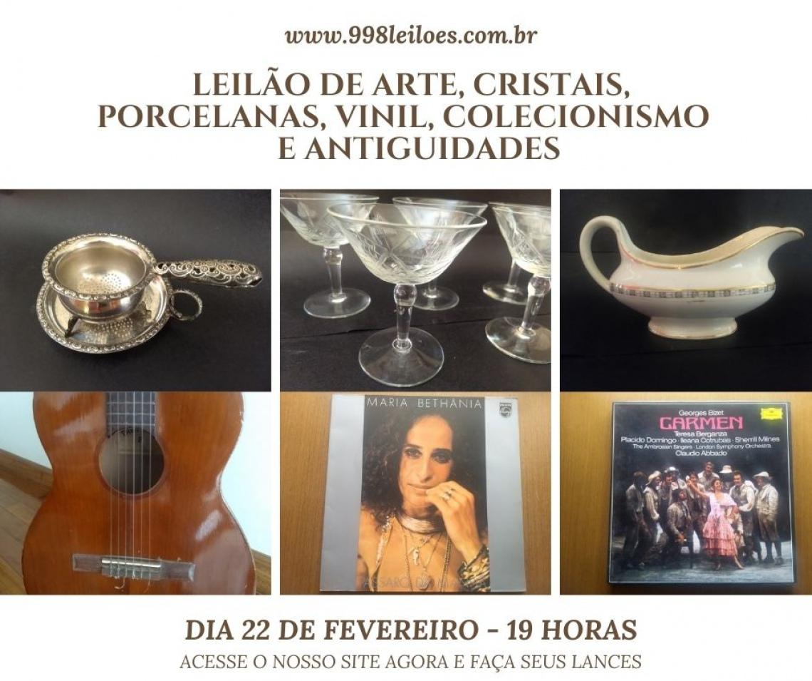 LEILÃO DE ARTE, CRISTAIS, PORCELANAS,  VINIL, COLECIONISMO  E ANTIGUIDADES