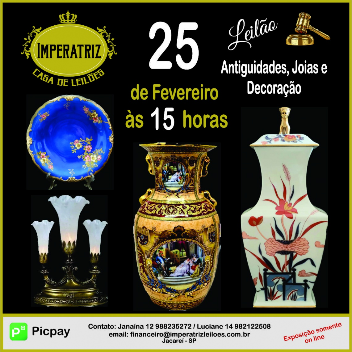 CASA DE LEILÕES IMPERATRIZ - Antiguidades, Joias e decorações.