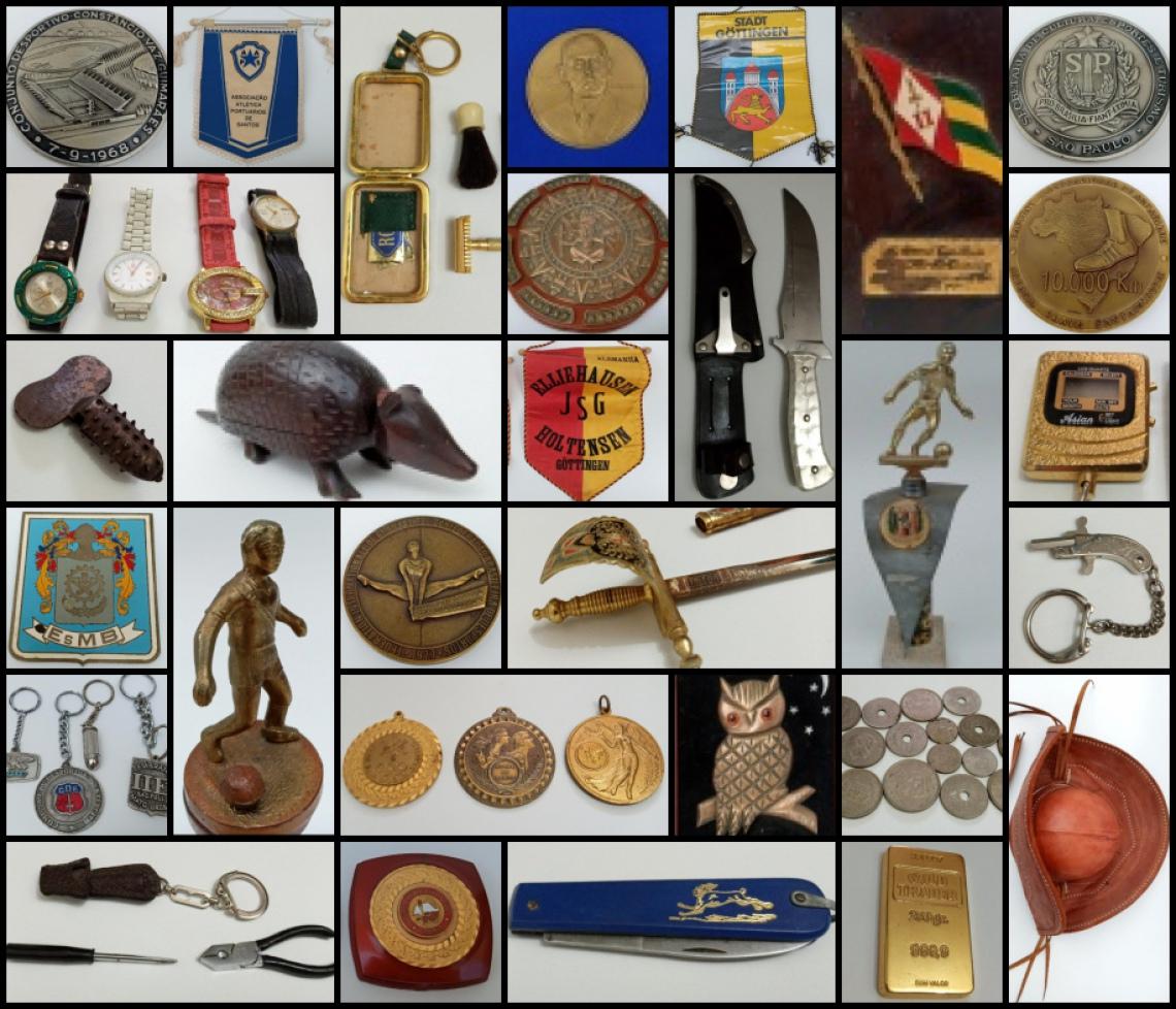 COLECIONÁVEIS DE DR. IVO BENTO GARCIA E OUTROS - ( Medalhas Esportivas, Moedas, Chaveiros, facas).