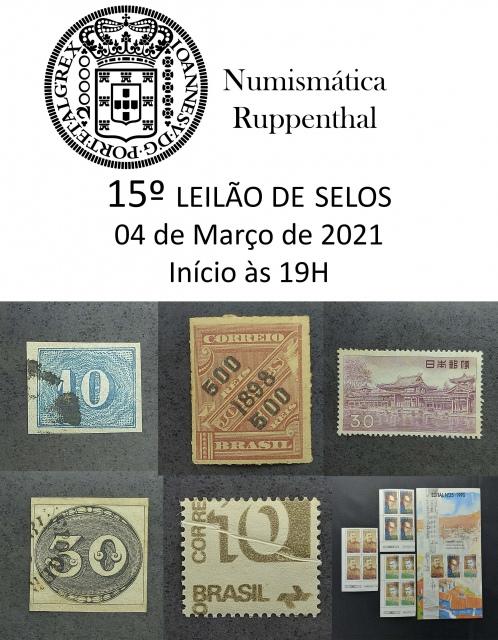 15º Leilão de Selos - Numismática Ruppenthal