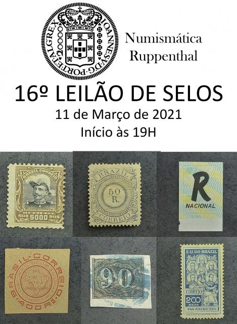 16º leilão de selos- Numismática Ruppenthal