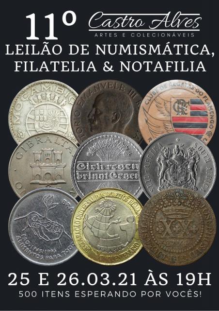 10º LEILÃO CASTRO ALVES DE NUMISMÁTICA E ANTIGUIDADES
