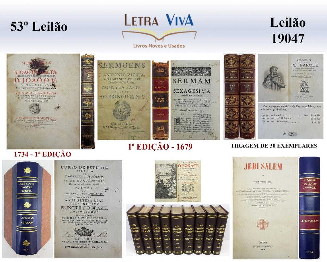 53º LEILÃO LETRA VIVA - EDIÇÕES DE LUXO