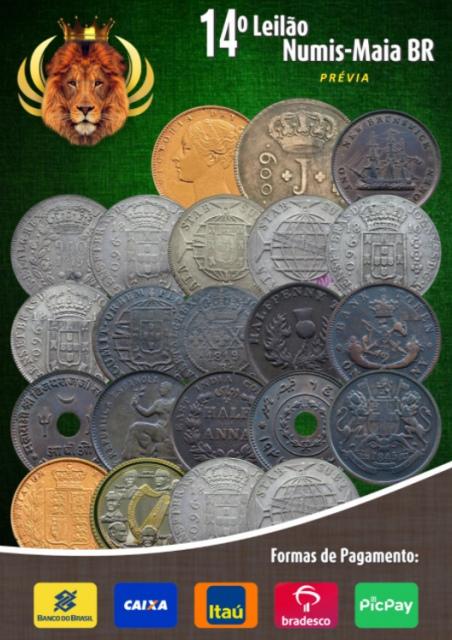 14.º Leilão Numis-Maia BR - Ouro e Prata
