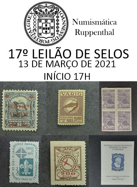 17º Leilão de Selos - Numismática Ruppenthal