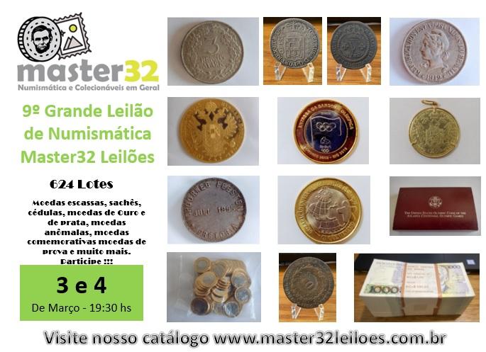 9º Grande Leilão de Numismática - Master32 Leilões