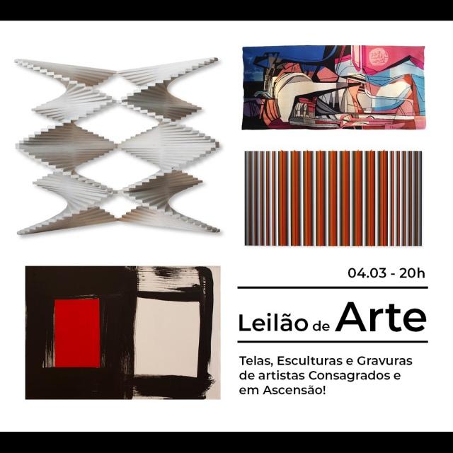 LEILÃO 67 - Telas, Esculturas e Gravuras de artistas Consagrados e em Ascensão 04/03/2021 às 20h