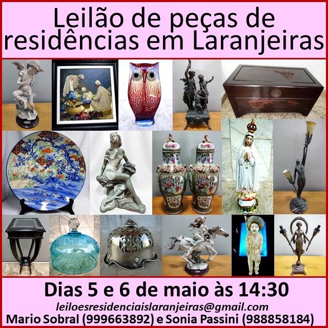 LEILÃO DE PEÇAS DE RESIDENCIAS EM LARANJEIRAS