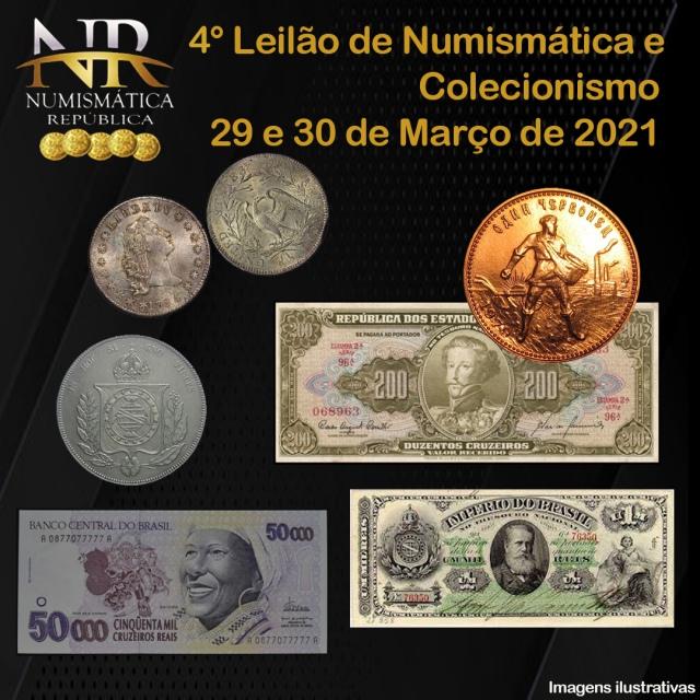 4º Leilão de Numismática e Filatelia - NUMISMÁTICA REPÚBLICA