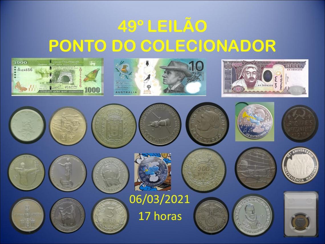 49º LEILÃO PONTO DO COLECIONADOR