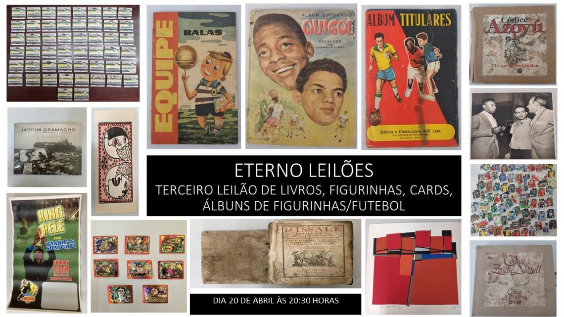 TERCEIRO LEILÃO DE LIVROS, FIGURINHAS, CARDS, ÁLBUNS DE FIGURINHAS/FUTEBOL