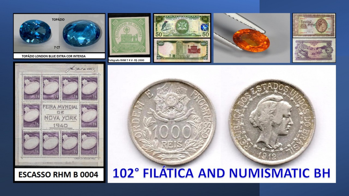 102º LEILÃO FILATICA AND NUMISMATIC BH