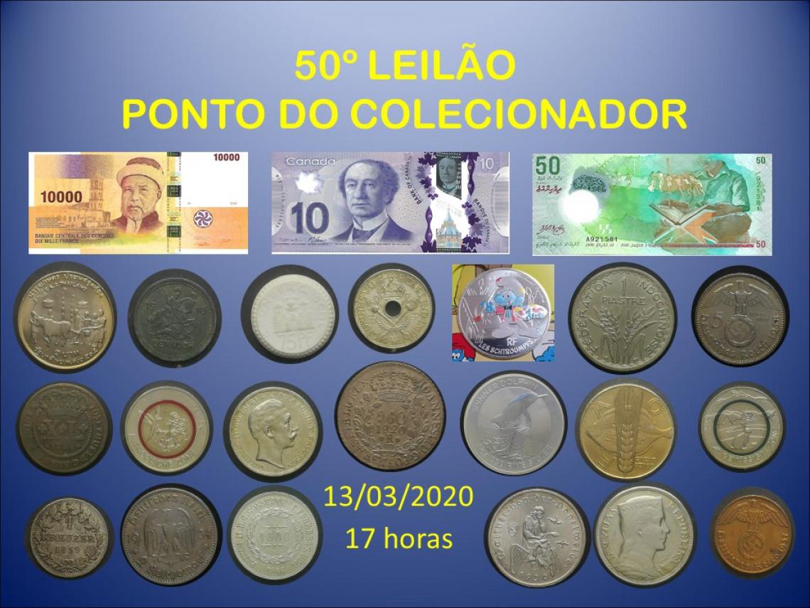 50º LEILÃO PONTO DO COLECIONADOR
