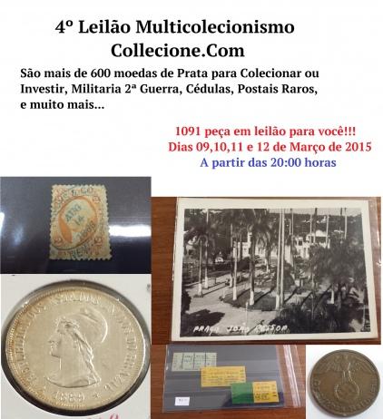 4º LEILÃO MULTICOLECIONISMO COLLECIONE.COM