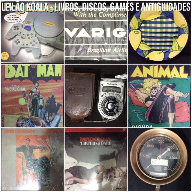 LEILÃO KOALA - LIVROS, DISCOS, GAMES E ANTIGUIDADES
