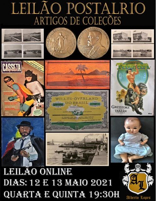 LEILÃO POSTALRIO ARTIGOS DE COLEÇÃO, ARTES E ANTIGUIDADES