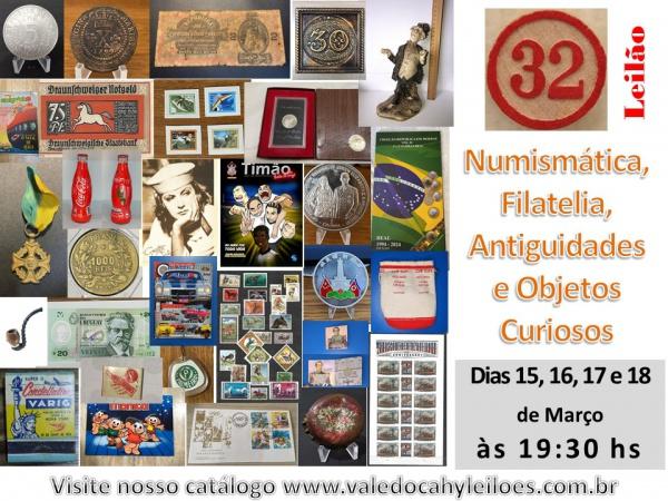 32º Grande Leilão de Numismática, Filatelia, Antiguidades e Objetos Curiosos
