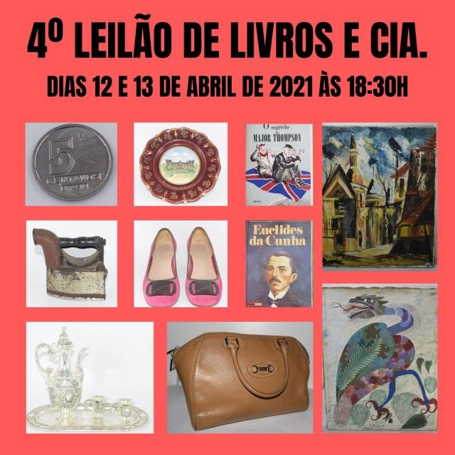 4º LEILÃO DE LIVROS E CIA.