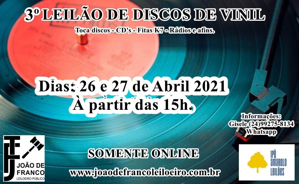 III GRANDE LEILÃO DE DISCOS DE VINIL - PETRÓPOLIS - RJ