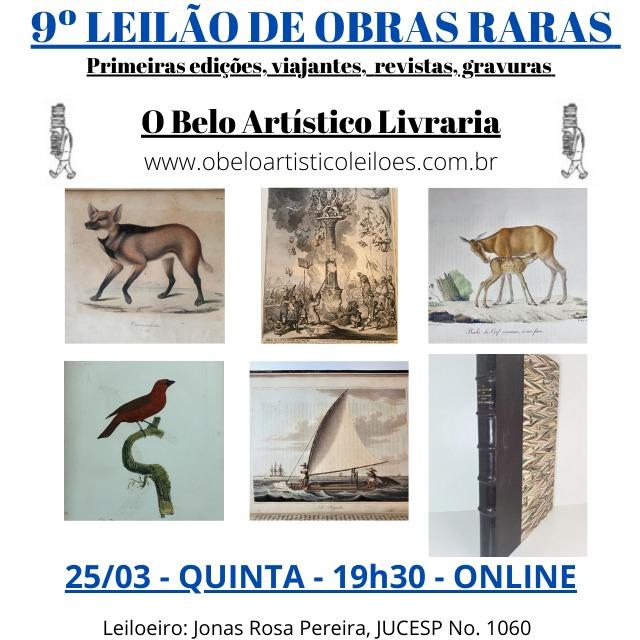 9º Leilão de Obras Raras/Especiais de O Belo Artístico