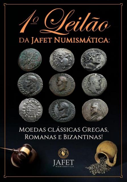 1º Leilão da Jafet Numismática - Moedas Clássicas Gregas, Romanas e Bizantinas